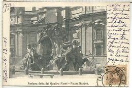 POSTAL ROMA CON MAT MADRID 1901 A SEVILLA FRANQUEO 2 CTS SELLOS CADETE ALFONSO XIII - 1889-1931 Royaume: Alphonse XIII
