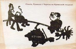 DC1726 - WW2 Germany Propaganda Postcard - Judaica Juden Russisch? REPRO - Guerre 1939-45