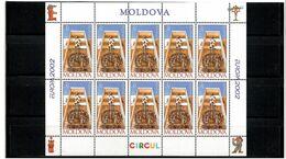 Moldova 2002 . EUROPA 2002 (Circus). Sheetlet Of 10 Stamps. Michel # 429 KB - Moldavia