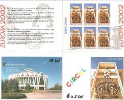 Moldova 2002 .EUROPA 2002 (Circus). Booklet Of 6 Stamps.  Michel # 429 MH - Moldavia