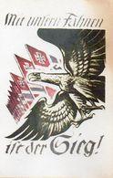 DC52 - WW2 Germany Propaganda Postcard - Mit Unseren Fahnen Ist Der Sieg REPRO - Guerre 1939-45