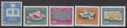 SCHWEIZ  731-735,  Postfrisch **, Pro Patria 1961, Mineralien Und Versteinerungen - Pro Patria