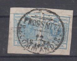 """Österreich Kab.Briefstück Mit 2x 5X Zentrischer Stempel """" Prossnitz 12.11.1850 Recommandiert """" Mit Zierstück - Used Stamps"""