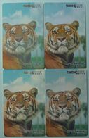 RUSSIA / USSR - Chip - Dalnerechensk - Muses - Primorskiy - Siberian Tiger - Set Of 4 - 400 To 2000 Units - Used - Russie
