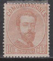 1872 AMADEO 40 CTS NUEVO*. 100 €. VER - 1872-73 Königreich: Amédée I.