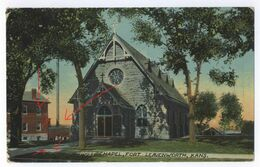 USA Congregational Church Leavenworth Kansas + Fort Leavenworth Post Chapel Kansas Post Card - Etats-Unis
