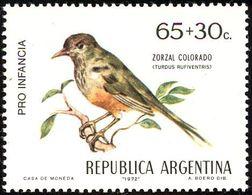 MDB-BK2-381 MINT ¤ ARGENTINA 1972 2w In Serie ¤ OISEAUX - BIRDS - PAJAROS - VOGELS - VÖGEL - - Passereaux