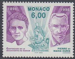 Monaco 1998 - The 100th Anniversary Of Discovery Of Radium: Pierre & Marie Curie - Mi 2402 ** MNH [1243] - Monaco