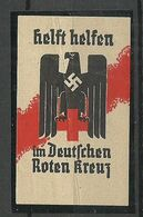 GERMANY Reich Red Cross Roter Kreuz Swastika Vignette Poster Stamp * NB! Folds! Please Look At Pictures! - Cinderellas