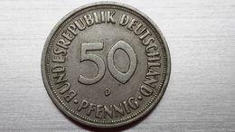 50 Pfennig 1969 D  (A10.84) - [ 7] 1949-… : RFA - Rep. Fed. Alemana