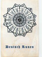 DC2888 - WW2 Germany Propaganda Postcard - Deutsche Runen REPRO - Guerre 1939-45