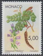Monaco 1996 - Native Plants: Giant Bellflower And Carob Pods And Leaves - Mi 2332 ** MNH [1254] - Monaco