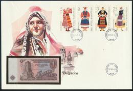 Geldschein Banknote Banknotenbrief Bulgarien Bulgaria 1 Lev P93 1986    - Billets