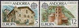 CEPT / Europa 1978 Andorre Espagnol N° 108 à 109 ** Monuments - 1978
