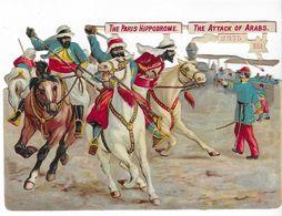 The Paris Hippodrome - The Attack Of Arabs - 15x10 Cm - Victorian Die-cuts