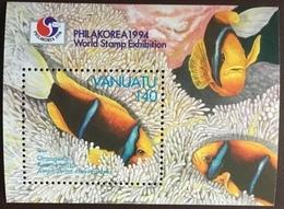 Vanuatu 1994 Anemone Fish Philakorea Minisheet MNH - Fische