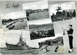 LA SPEZIA  Vedutine  Porto  Panorama  Monumento Nave Da Guerra  Marinaio - La Spezia