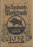 Calendar KA000021 - Des Landwirts Merkbuch Schutz-Marke Eber 1932 - Kalender