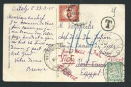 Rare Affranchissement Mixte Départ Timbres Serbes, Taxe En égypte Et Retaxe En France  Duval N° 36 EN 1925-  Qaa6710 - Marcophilie (Lettres)