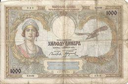 YOUGOSLAVIE 1000 DINARA 1931 VF P 29 - Jugoslawien