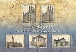 Blok 282**Pleinen Van Leuven** / 4919/22** Places De La Ville De Louvain MNH/  Belgie - Belgique 2019 - Belgien