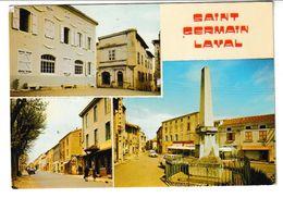 Loire SAINT GERMAIN LAVAL  Carte Multivues - Saint Germain Laval