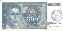 BOSNIE-HERZEGOVINE 500 DINARA ND1992 VF P 1 - Bosnië En Herzegovina