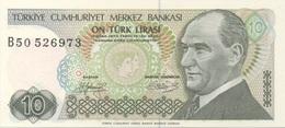 Turquie Turkey : 10 Lirasi UNC - Turquie