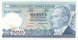Turquie Turkey : 500 Lirasi UNC - Turquie