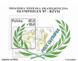 POLOGNE  BLOCS FEUILLETS  JEUX OLYMPIQUES OLYMPHILEX 1987 - Altri