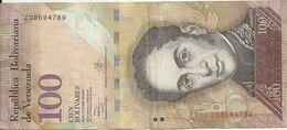 VENEZUELA 100 BOLIVARES 2013 VF P 93 G - Venezuela