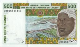 Mali 500 Francs (P410D) Letter D 2000 Sign 30 -UNC- - Malí