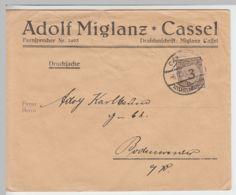 (B1348) Bedarfsbrief DR, Fa. Adolf Miglanz, Cassel, 1923 - Germania