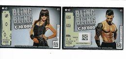 2 BILLETS DE LOTERIE DIFFERENTS / BLING BLING - Billets De Loterie