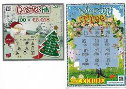 2 BILLETS DE LOTERIE DIFFERENTS / CHRISTMAS FUN & MONEY TREE - Billets De Loterie