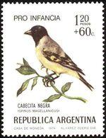 MDB-BK2-395-2 MINT ¤ ARGENTINA 1974 2w In Serie ¤ OISEAUX - BIRDS - PAJAROS - VOGELS - VÖGEL - - Passereaux