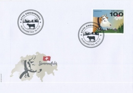 FDC, 1658, 16. November 2017 - Sondermarke Schweizer Kuh / Timbre Special Vache Suisse - FDC