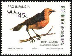 MDB-BK2-396-2 MINT ¤ ARGENTINA 1973 2w In Serie ¤ OISEAUX - BIRDS - PAJAROS - VOGELS - VÖGEL - - Passereaux