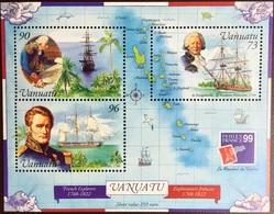 Vanuatu 1999 Australia '99 Early Explorers Minisheet MNH - Vanuatu (1980-...)