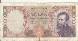 ITALIE 10000 LIRE 1973 VG+ P 97 F - 10000 Lire