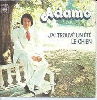 """45 Tours SP - ADAMO - CBS 4426 -  """" J'AI TROUVE UN ETE """" + 1 - Other - French Music"""