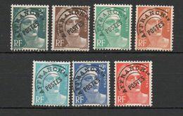 Préoblitérés  Marianne De Gandon, Lot De 7 Valeurs - N°94, 95, 98, 99, 101, 103 Et 103A, Oblitérés - Préoblitérés