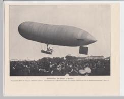(D566) Druck Start Parseval Luftschiff, Leipziger Illustrirten Zeitung Um 1910 - Altri