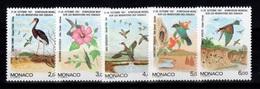 Monaco - YV 1754 à 1758 N** Complete Migration Des Oiseaux Cote 12,50 Euros - Monaco