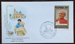"Philippines - Cachet ""Visite Du Pape Giovanni Paolo II"" - Manila - 17.2.1981 - Filipinas"