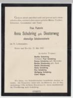 (D483) Trauerbrief Pastorin Anna Schubring Geb. Diesterweg, Bonn 1917 - Altri