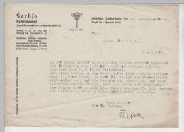 (D437) Schreiben V. RA Sachse I. Eisleben An Frau Agnes Rohne, Helbra 1940 - Altri