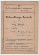 (D398) Behandlungs-Ausweis SVA Sachsen-Anhalt V. G.Günther, Helbra 1950 - Altri