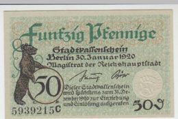 (D242) Notgeld Der Stadt Berlin, 50 Pf., 1920 - [ 3] 1918-1933 : República De Weimar