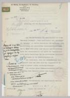 (D94) Schriftstück 2 Seiten, Notariat Wäntig, Kauffmann, Sieveking Hamburg 1923 - Altri